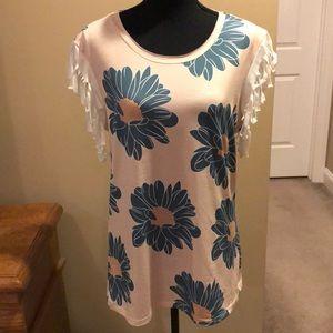 Misslook Short Sleeve Floral Top